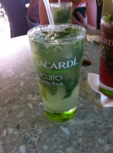 Delicious mojito at Bacardi Rum Factory.
