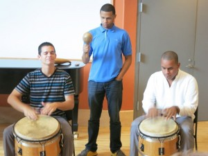 At our music workshop at the Conservatory of Music in San Juan.