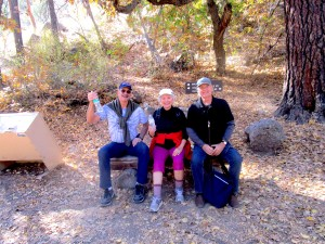 Kelly, Gerry, Karl at Bandalier, Santa Fe