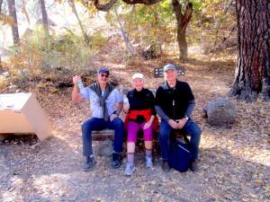 Kelly, Gerry, Karl at Bandalier, Santa Fe