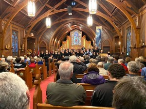 Full house Dec. 1, 2019 at Church of the Incarnation, Santa Rosa, California.