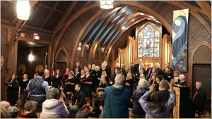 Standing ovation Dec. 1, 2019 in church of the Incarnation, Santa Rosa, California.